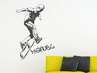 Wandtattoo Skater mit Wunschname | Bild 3