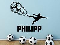 Wandtattoo Fußballer mit Name | Bild 3