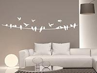 Wandtattoo Vögel auf Stromleitung | Bild 2
