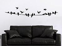 Wandtattoo Vögel auf Stromleitung | Bild 4