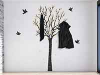 Wandtattoo Garderobe zweifarbiger Baum | Bild 3