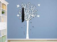 Wandtattoo Garderobe zweifarbiger Baum | Bild 4