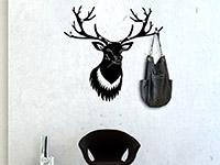 Wandtattoo Garderobe Hirsch | Bild 3