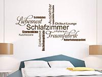 Wandtattoo Moderne Schlafzimmer Begriffe | Bild 2