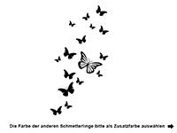 Wandtattoo Zweifarbige Schmetterlinge