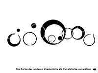Wandtattoo Zweifarbige Retro Kreise Motivansicht