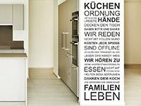 Wandtattoo Küchenordnung in der Küche