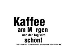 Wandtattoo Kaffee am Morgen Motivansicht