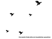 Wandtattoo Origami Vögel Motivansicht