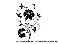 Wandtattoo Blüten mit zaubernder Fee Motivansicht