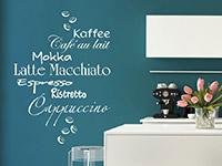Wandtattoo Kaffeesorten mit Kaffeebohnen | Bild 2