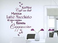 Wandtattoo Kaffeesorten mit Kaffeebohnen | Bild 3