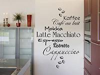 Wandtattoo Kaffeesorten mit Kaffeebohnen | Bild 4