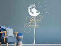 Wandtattoo Wünsche und Träume in weiß und hellbraun