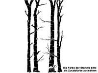 Wandtattoo Birkenwald mit Waldbewohnern Motivansicht
