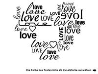 Wandtattoo Love Heart Motivansicht