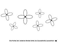 Wandtattoo Moderne Blüten Motivansicht
