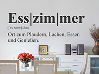 Wandtattoo Esszimmer Definition