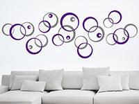 Wandtattoo Zweifarbige Kreiskomposition | Bild 2