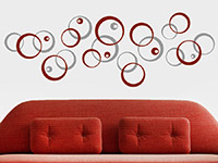 Wandtattoo Zweifarbige Kreiskomposition | Bild 4