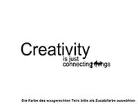 Wandtattoo Creativity is just Motivansicht