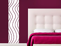 Wandtattoo Banner Linienmuster im Schlafzimmer
