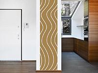 Wellen Wandtattoo Banner Linienmuster als stylischer Raumtrenner