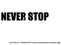 Wandtattoo Never stop dreaming Motivansicht