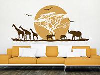 Wandtattoo Afrikanische Landschaft mit Sonne | Bild 2
