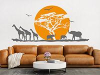 Wandtattoo Afrikanische Landschaft mit Sonne | Bild 3