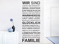 Wandtattoo Wir sind eine Familie | Bild 2
