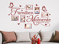 Foto Wandtattoo Bilderrahmen Familien Momente im Wohnzimmer