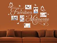 Fotorahmen Wandtattoo Bilderrahmen Familien Momente in weiß