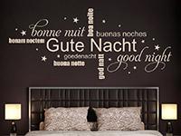 Wandtattoo Gute Nacht mit Sternen | Bild 2