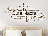 Wandtattoo Gute Nacht mit Sternen | Bild 3