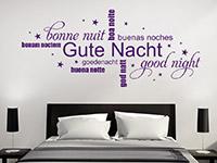 Wandtattoo Gute Nacht mit Sternen | Bild 4