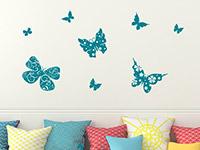 Wandtattoo Verzierte Schmetterlinge | Bild 2