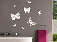 Wandtattoo Verzierte Schmetterlinge | Bild 4