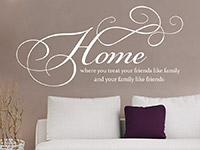 Wandtattoo Home where you treat your friends like family | Bild 4