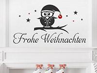 Wandtattoo Frohe Weihnachten mit Eule | Bild 2