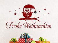 Wandtattoo Frohe Weihnachten mit Eule | Bild 3