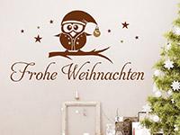 Wandtattoo Frohe Weihnachten mit Eule | Bild 4