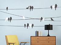 Wandtattoo Sitzende Vögel | Bild 3