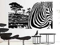Wandbanner Zebra Motiv | Bild 2