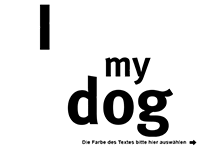 Wandtattoo I love my dog Motivansicht