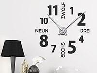 Wandtattoo Uhr Modernes Design