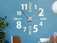 Wandtattoo Uhr Modernes Design in weiß