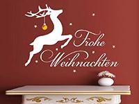 Wandtattoo Rentier mit Weihnachtskugel | Bild 3