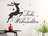 Wandtattoo Rentier mit Weihnachtskugel | Bild 4