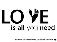 Wandtattoo Love is all you need Motivansicht